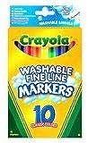 2 X Crayola 10 Washable Fine Line Markers