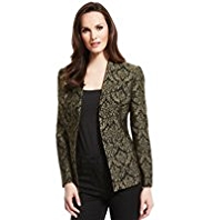 M&S Collection Open Front Jacquard Jacket