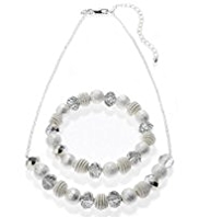 M&S Collection Silver Plated Snail Necklace & Bracelet Set