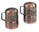 Old Dutch International Antique Embossed Stovetop Salt & Pepper Set, 4-Inch