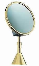 "The French Reflection Etoile Boutique Elegance 71/2"" Makeup Mirror Nickel 7X Optical 19186B7Xopti"