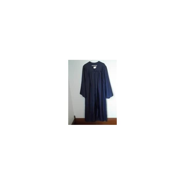 Jostens the Elements Collection Navy Blue Graduation Cap and Gown 54   56