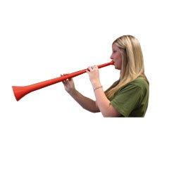 Vuvuzela Stadium Horn , 29 Inch Collapsible Noise Maker - Red