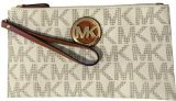 Michael Kors Signature Fulton Large Top Zip Clutch & Wristlet - Vanilla PVC