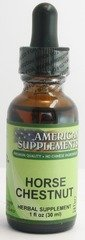 Horse Chestnut No Chinese Ingredients American Supplements 1 Oz Liquid