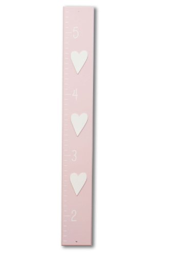 Homeworks Etc Heart Growth Chart, Light Pink/White front-598375