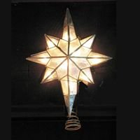 Lighted Capiz Shell Star of Bethlehem Christmas