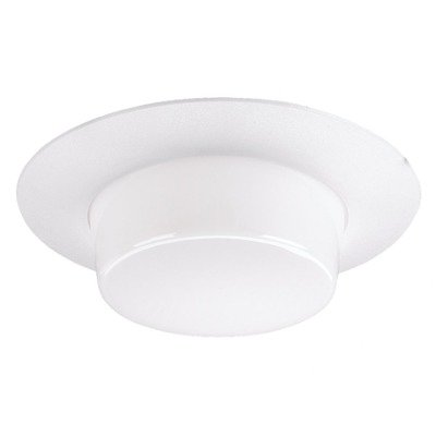 "6"" Recessed Housing Drop Lens Shower Trim In White"
