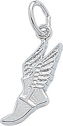 image Rembrandt Charms Winged Shoe Charm, Sterling Silver