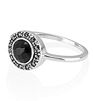 M&S Collection Finest Sterling Silver Stone & Diamanté Ring