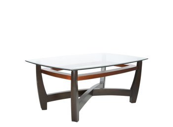 Elation Glass Cappuccino Copper Coffee Table (B0020650LG)