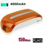 150Mbps Mobile Power 3G Wifi Router with 4000mAh Mobile Power Bank (Orange)