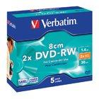 Verbatim DVD-RW, 1.4Gb, 8cm, 30min, Pack 5, No 43514, camcorder mini dvd, dvd rw