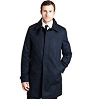 Big & Tall Autograph Pure Cotton Water Resistant Trench Coat
