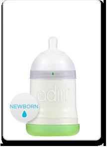Adiri Nxgen Nurser Baby Bottle - White Newborn 5.5Oz