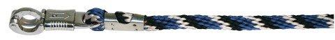 Führstrick Mustang Panikhaken, royalblau/schwarz/weiß