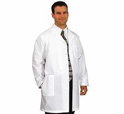 White Swan Uniforms Men's White Lab Coat