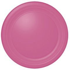 "10 1/2"" Pink Paper Plates 20 per pack"