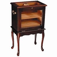 Cheap End Table Humidor – Hold up to 500 cigars. Mahogany wood (B003FR6202)