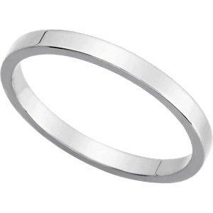 Genuine IceCarats Designer Jewelry Gift 14K White Gold Wedding Band Ring Ring. 02.00 Mm Flat Band In 14K Whitegold Size 4