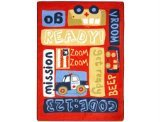 "Joy Carpets Kid Essentials Infants & Toddlers Ready, Set, Go! Rug, Multicolored, 3'10"" x 5'4"""