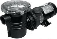 1 HP 3450 RPM, 115 volts Above Ground Pool Pump - Waterway brand - With large Debris Basket & Power