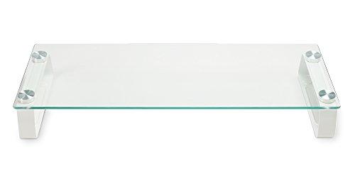 グリーンハウス 強化ガラスディスプレイ台 メタルスタンドタイプ 耐荷重20kg 幅560mm GH-DKBC-CL