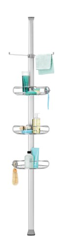 Simplehuman BT1062 Tension Shower Caddy with Adjustable Height from 1.83 to 2.74m