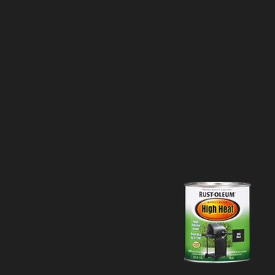 Rust-Oleum 778502 Specialty High Heat Protective Enamel, Satin Black, 1-Quart