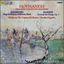 Hovhaness: Talin - For Clarinet and String Orchestra Diamond: Elegy in memory of Maurice... by Hovhaness, Diamond, Barber, Nicolas Flagello and Orchestra Da Camera Di Roma
