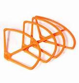 "RioRand® 9"" Propeller Prop Guards Protector Bumper Set for DJI PHANTOM 2 VISION (ORANGE)"