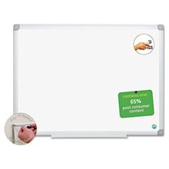 ** MasterVision Earth Easy-Clean Dry Erase Board, White/Silver, 18x24 **