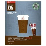 Starbucks VIA Italian Roast De-cafeineited 12 sachets, Decaf