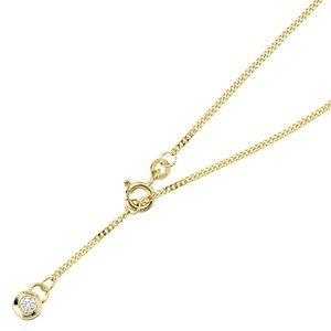 Jewelry Women Necklace 333 Yellow Gold, Zirconia, anklets about 25 cm long, quick closing