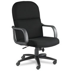 Big & Tall Executive Chair with Loop Arms, Acrylic/Poly Blend Fabric,Black