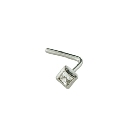 Mia Gioielli - Nose jewellery, nose studs piercing 18ct gold with Cubic Zirconia Ø 1.50, hypoallergenic, F-05650-0B07