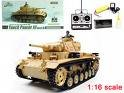 1/16 Tiger-3 Smoking Tauch Panzer III Ausf.H RCAirsoft Battle Tank with Sound