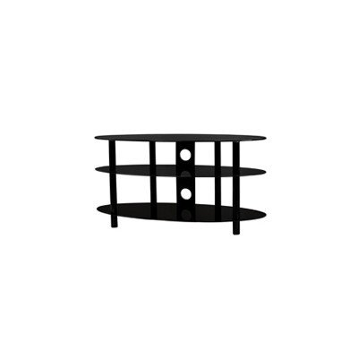 B-TECH BTF105 / BG estante AV incluyendo 3 estantes de vidrio ovalada. La guía de cable (pantalla de hasta 158 cm (62,2 pulgadas)) negro