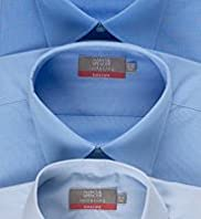 "3 Pack 2"" Shorter Easycare Plain Shirts"