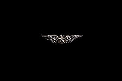 Silver Pilot Wings Pin for Military or Steampunk Uniform