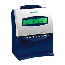 Acroprint Es1000 Totalizing Digital Automatic Payroll Recorder/Time Clock, Blue & Silver, Ea - Acp010215000
