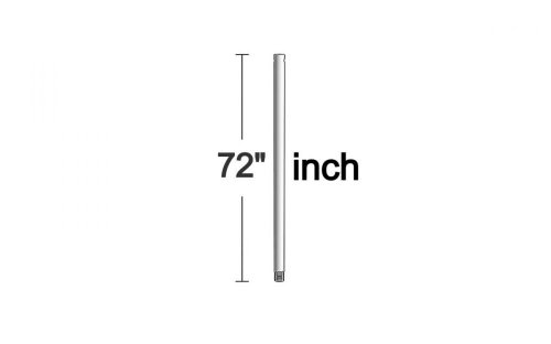 Monte Carlo DR72BS 72-Inch Downrod, Brushed Steel