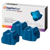 Xerox Phaser 8500 / 8550 Premium Quality Compatible Solid Ink Sticks - Cyan 3 Pack Replaces Xerox Part Number: 108R00669