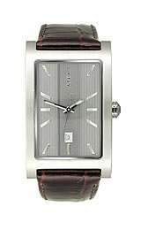 DKNY Embossed Leather Date Grey Dial Men's watch #NY1475