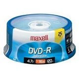 Maxell DVD-R Disc 4.7GB 16X 25 Pack Spindle (635052)