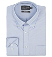 2in Longer Pure Cotton Button-Down Collar Oxford Shirt