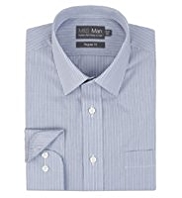 Cotton Rich Easy to Iron Striped Shirt