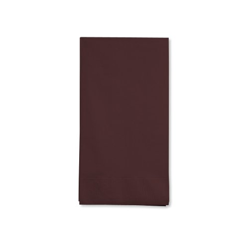 Creative Converting Touch of Color 16 Count 3-Ply Paper Guest Napkin, Chocolate Brown (Chocolate Brown Napkins compare prices)