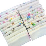 100% Cotton Handkerchief Gauze Muslin Square 30pcs - 1