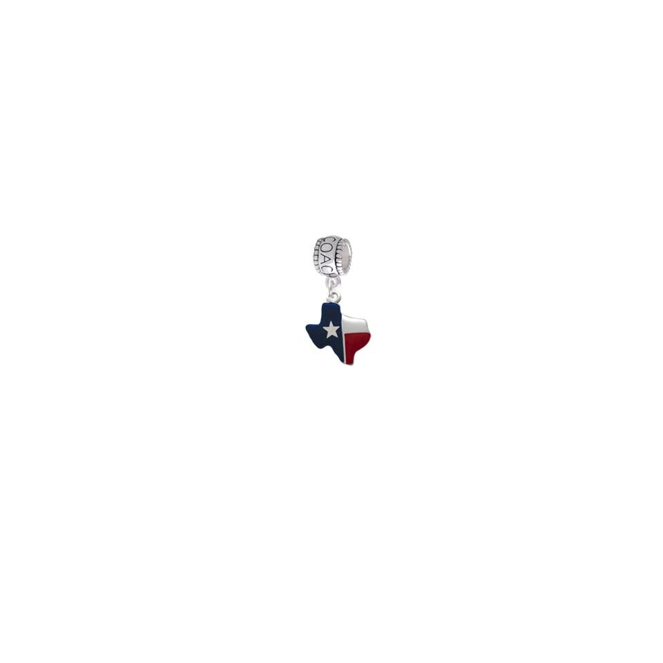 Red Silver and Blue Texas Coach Charm Bead Jewelry